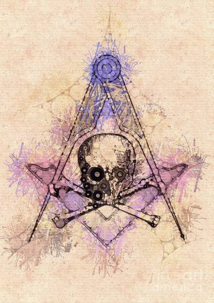 Wall Art - Painting - Freemason, Mason, Masonic, Lodge, Symbol by Pierre Blanchard