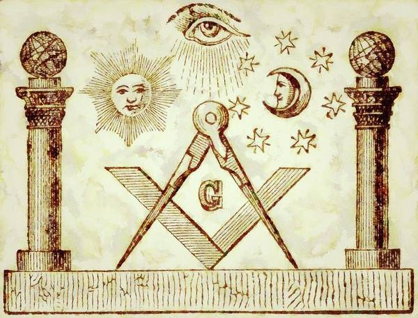 Serpent Painting - Freemason Symbolism By Pierre Blanchard by Pierre Blanchard