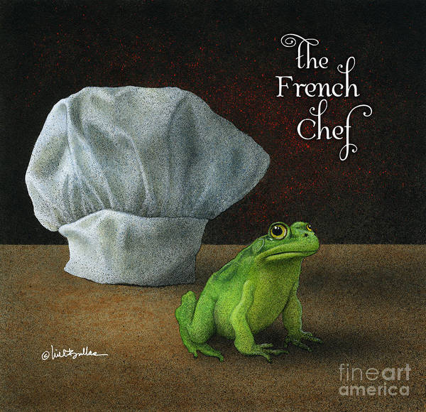 Painting - French Chef... by Will Bullas