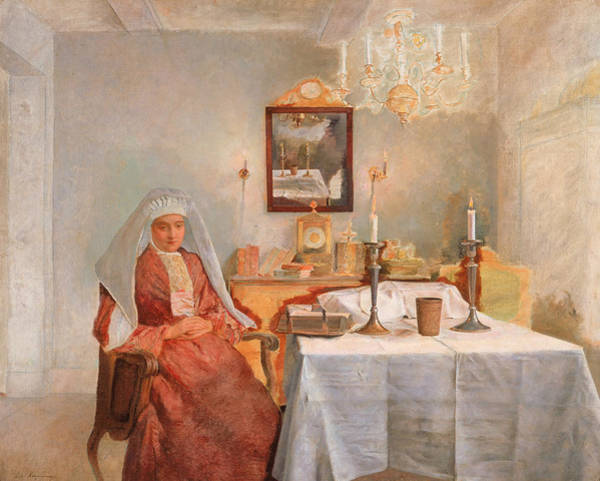 Painting - Friday Evening by Isidor Kaufmann