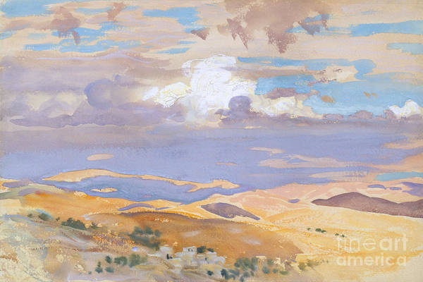 Terrain Painting - From Jerusalem by John Singer Sargent