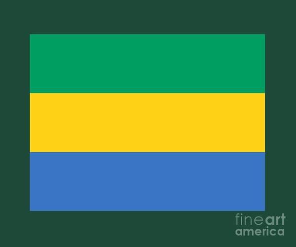 Gabon Digital Art - Gabon Flag by Frederick Holiday