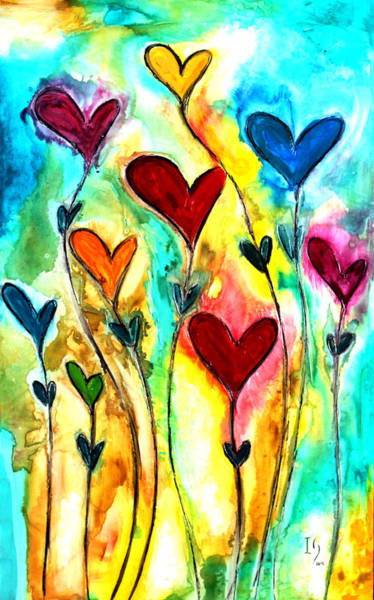 Wall Art - Mixed Media - Garden Of Love by Ivan Guaderrama