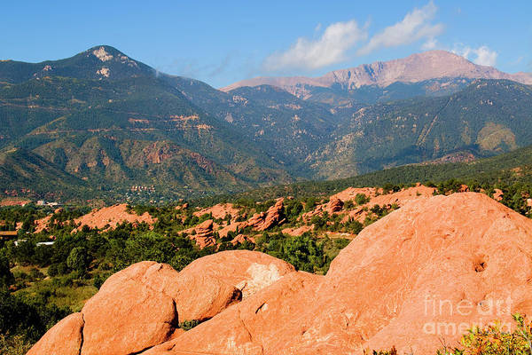 Photograph - Garden Of The Gods And Peak by Steve Krull