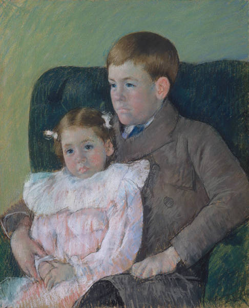 Pastel - Gardner And Ellen Mary Cassatt by Mary Cassatt