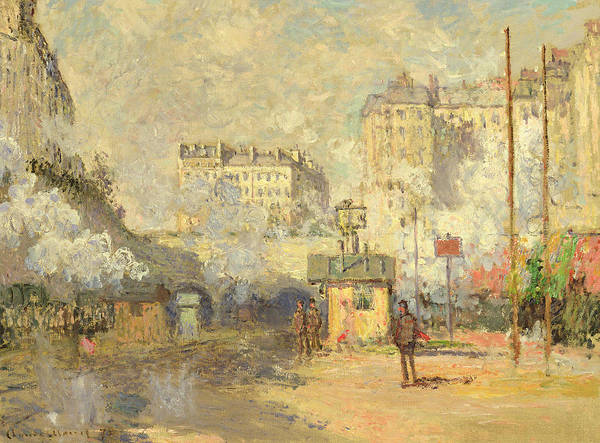 Lazare Painting - Gare Saint Lazare by Claude Monet