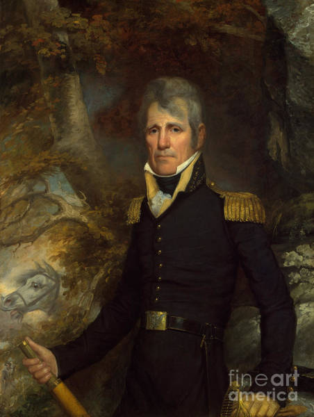 Campaign Painting - General Andrew Jackson by John Wesley Jarvis