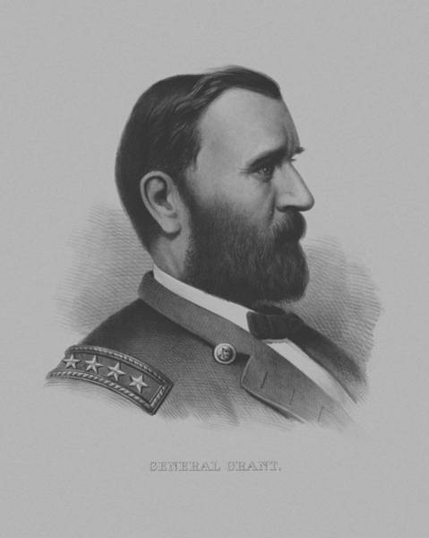 Civil War Wall Art - Mixed Media - General Grant by War Is Hell Store