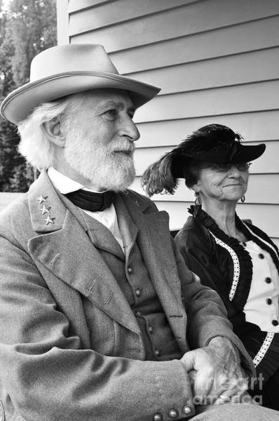 Re-enactment Wall Art - Photograph - General Lee And Mary Custis Lee by Thomas R Fletcher