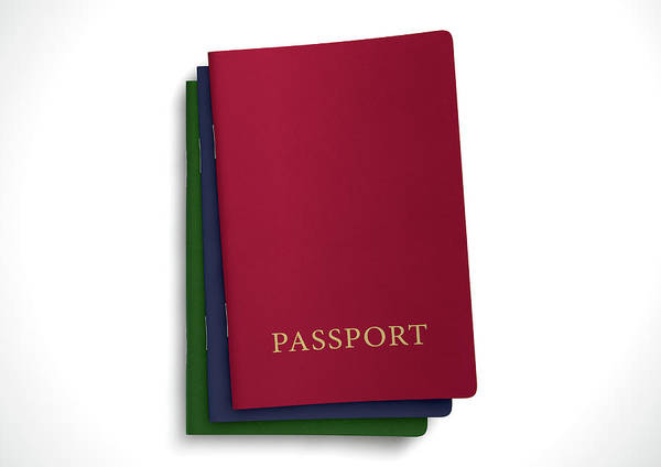 Wall Art - Digital Art - Generic Passport Stack  by Allan Swart