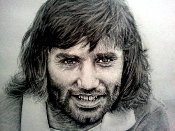 George Best Wall Art - Drawing - George Best by Sean Leonard