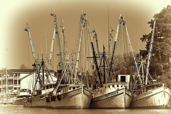 Georgetown Shrimpers Art Print