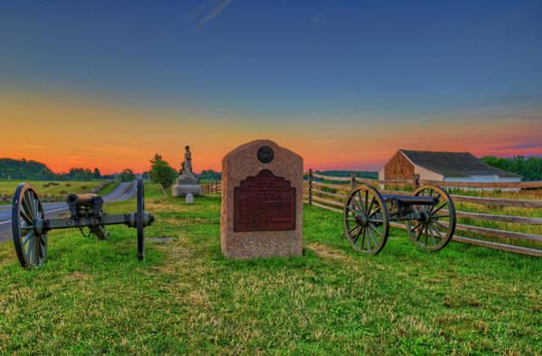 Artillery Brigade Photograph - Gettysburg Mcpherson Ridge Sunrise by Craig Fildes