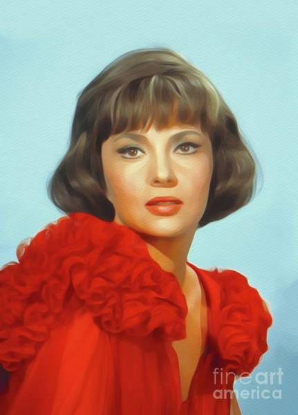 Gina Wall Art - Painting - Gina Lollobrigida, Vintage Movie Star by John Springfield