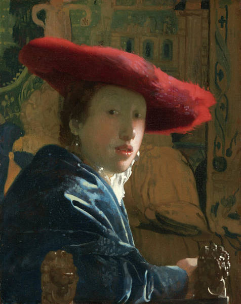 Wall Art - Painting - Girl With The Red Hat by Johannes Vermeer