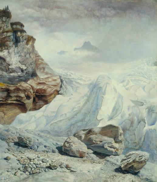 Brett Wall Art - Painting - Glacier Of Rosenlaui by John Brett