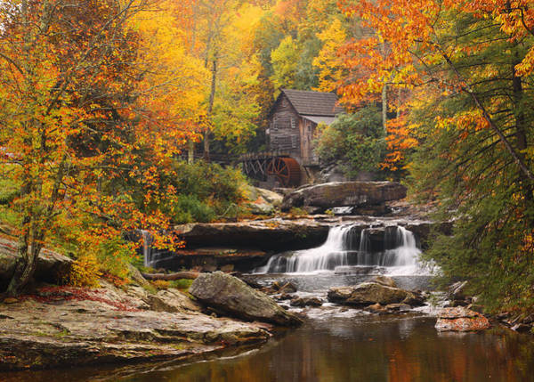 Photograph - Glade Creek Grist Mill - Fall by Harold Rau