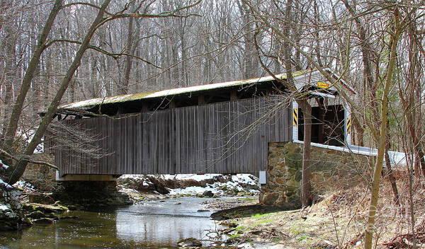 Photograph - Glen Hope Covered Bridge by Ken Keener
