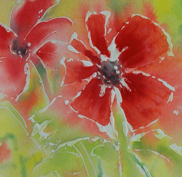 Painting - Glitter Poppy by Tara Moorman
