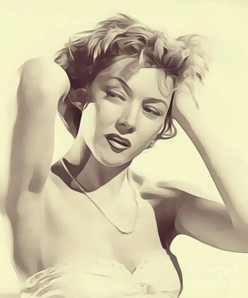 Gloria Wall Art - Digital Art - Gloria Grahame, Vintage Actress by John Springfield