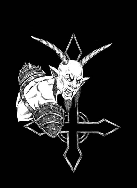 Demonic Drawing - Goatlord by Alaric Barca