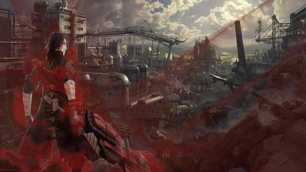 Skyline Digital Art - God Eater by Super Lovely