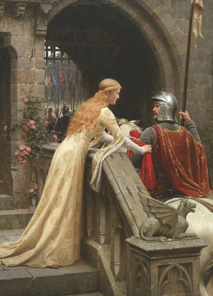 Wall Art - Painting - God Speed by Edmund Leighton