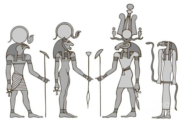 Wall Art - Digital Art - Gods Of Ancient Egypt by Michal Boubin