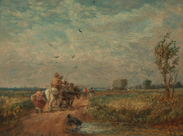 Painting - Going To The Hayfield by David Cox