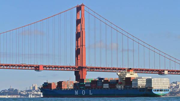 Photograph - Golden Gate Traffic by Steven Lapkin