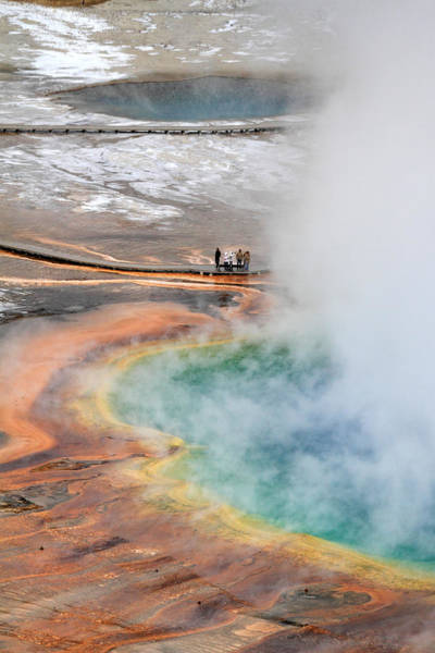 Photograph - Grand Prismatic Springs In Yellowstone National Park by Pierre Leclerc Photography