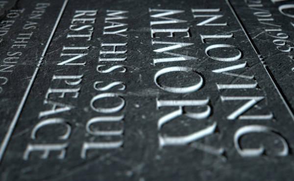 Cemetery Digital Art - Gravestone In Loving Memory by Allan Swart