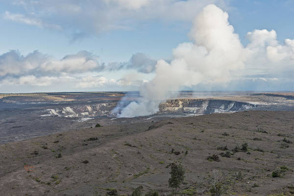 Photograph - Halema Uma U Crater by Jim Thompson