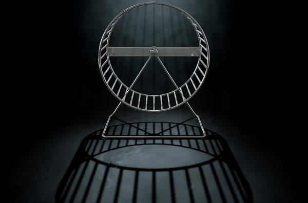 Rotating Digital Art - Hamster Wheel Empty by Allan Swart