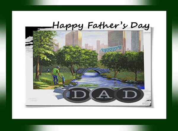 My Son Painting - Happy Father's Day by Saeed Hojjati