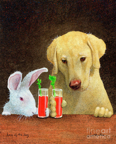 Hair Of The Dog Wall Art - Painting - Hare Of The Dog... by Will Bullas