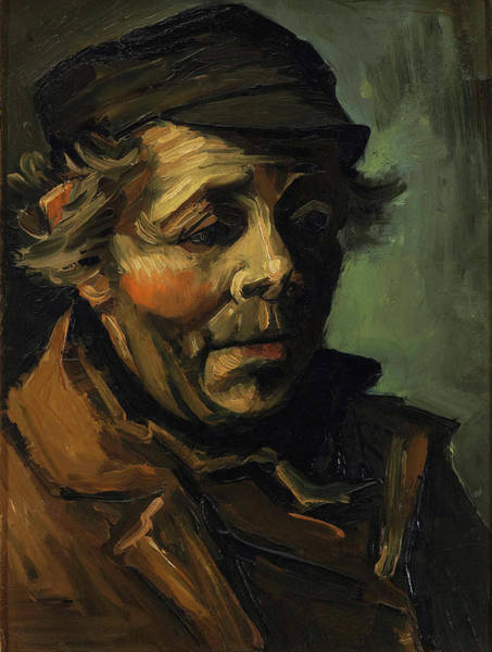 Painting - Head Of A Peasant With Cap by Vincent van Gogh