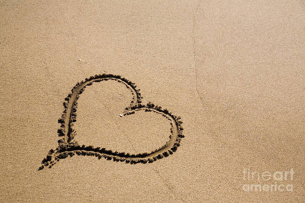 Wall Art - Photograph - Heart On Sand by Kati Finell