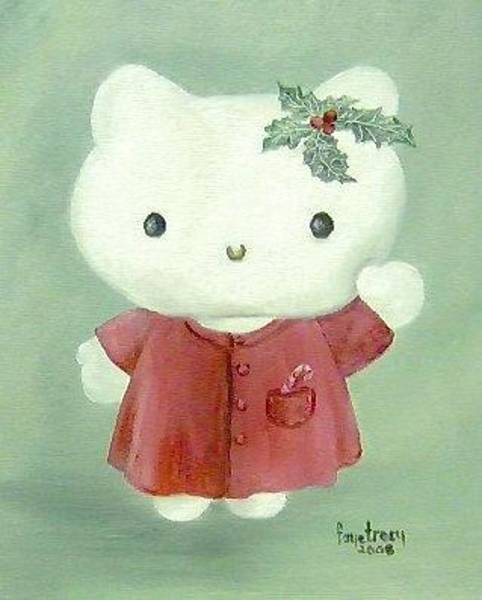 Hello Kitty Wall Art - Painting - Hello Kitty Christmas by Faye Tracy