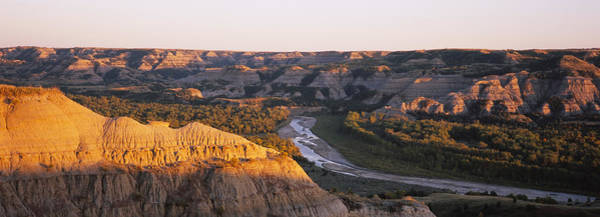 North Dakota Photograph - High Angle View Of A River Passing by Panoramic Images
