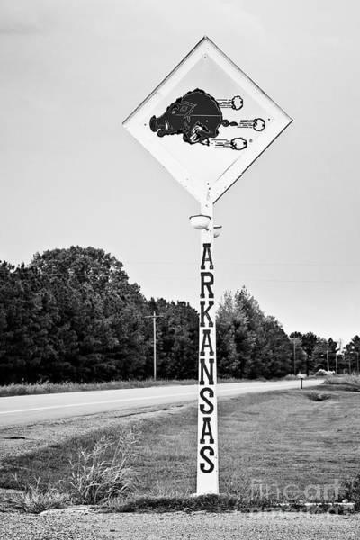 Wall Art - Photograph - Hog Sign - Bw by Scott Pellegrin