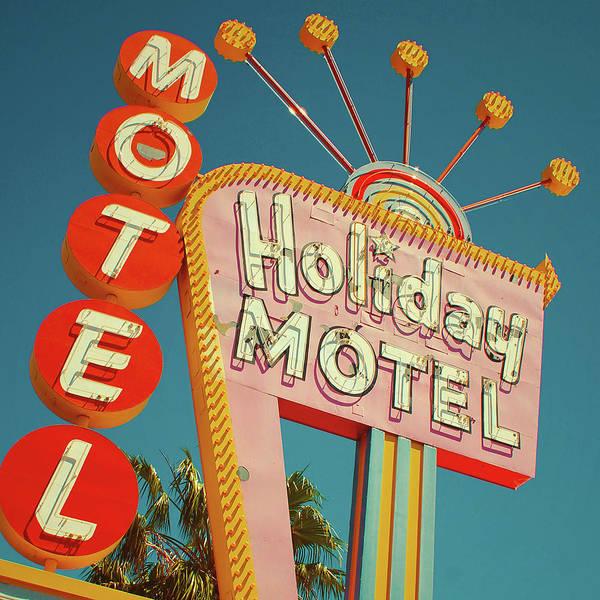 Googie Wall Art - Digital Art - Holiday Motel, Las Vegas by Jim Zahniser