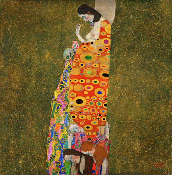 Wall Art - Painting - Hope by Gustav Klimt