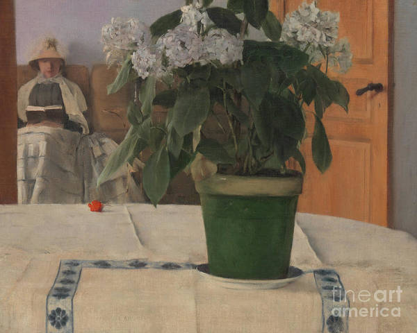 Wall Art - Painting - Hortensia by Fernand Khnopff