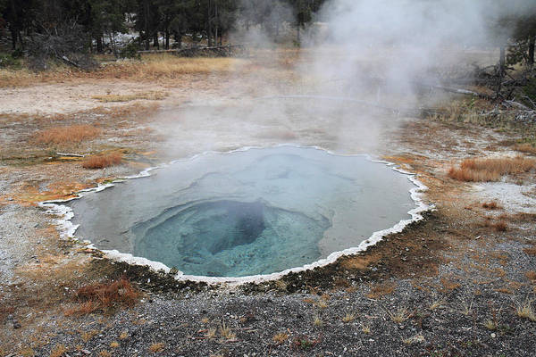 Photograph - Hot Springs And Geysers In Yellowstone by Pierre Leclerc Photography