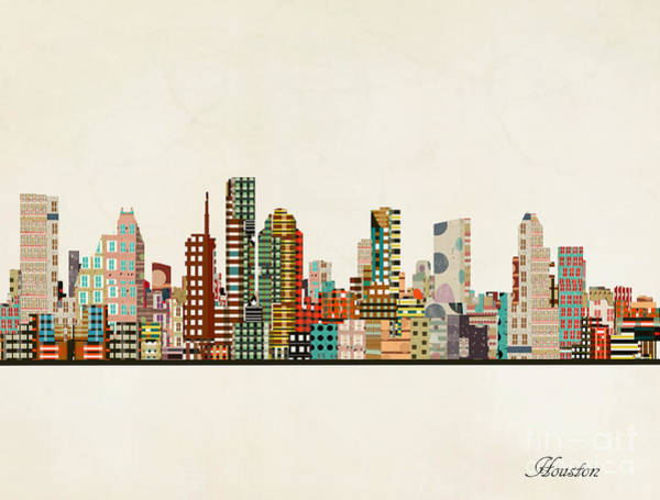 Houston Texas Painting - Houston Texas Skyline by Bri Buckley