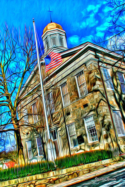 Orphan Digital Art - Howard County Courthouse by Stephen Younts