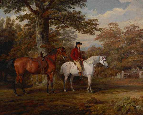 18th Century Wall Art - Painting - Hunter And Huntsman by George Garrard