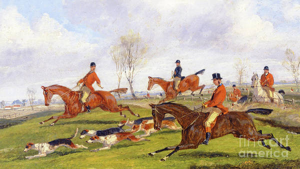 Wall Art - Painting - Hunting Scene by Henry Thomas Alken