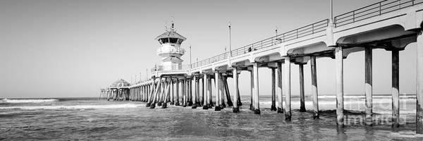 Huntington Beach Photograph - Huntington Beach Pier Panorama Photo by Paul Velgos
